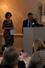 Moira Sinclair and James Berresford announce the partnership between Arts Council England and VisitEngland. Credit: Arts Council England.