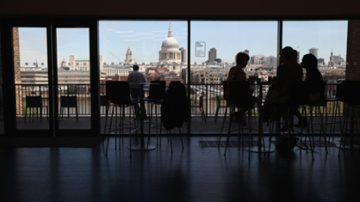 The view from Tate Modern's skyline cafe...