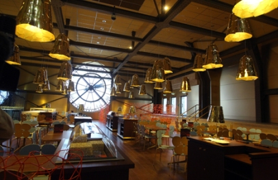 .. inside the Orsay Museum's new cafe with added va-va-voom in Paris