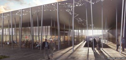 How the new cafe at Stonehenge will look